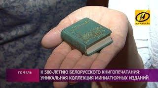 Уникальную коллекцию миниатюрных изданий представили в Гомеле