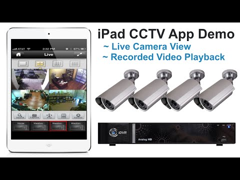 iPad Surveillance App Live Camera Viewing and Video Playback