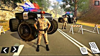 US Police Monster Truck  Gangster Car Chase game video screenshot 3