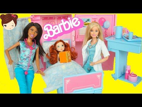 Hospital de Barbie Doctora y Enfermera - Juguetes de Barbie en Español