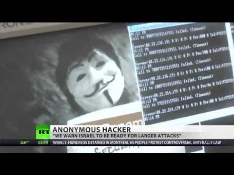 Anonymous hackers raise the Hacktivist fist to Israeli government
