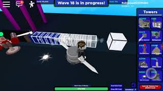 Roblox cube defence beating level 50 alone