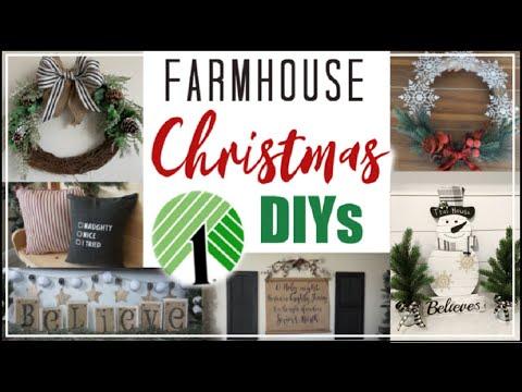 DIY DOLLAR TREE FARMHOUSE CHRISTMAS Decor 2019 | Dollar Tree Christmas DIYs | Momma From Scratch