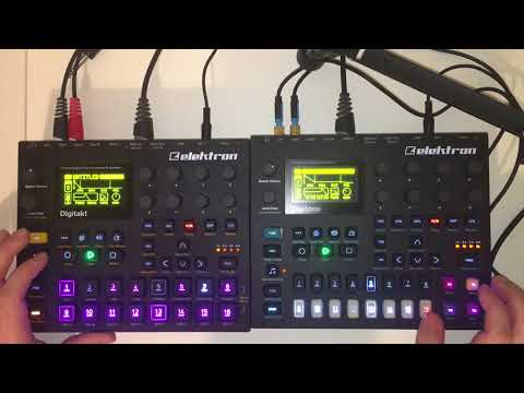 Day 81: techno going crazy with the automation! Digitakt digitone. #100days100jams