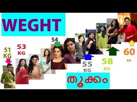 weight-of-top-15-malayalam-actress