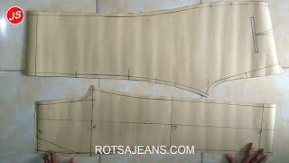 Tutorial Pola Celana Full Penjelasan ~ Cara Menjahit Celana Panjang#2