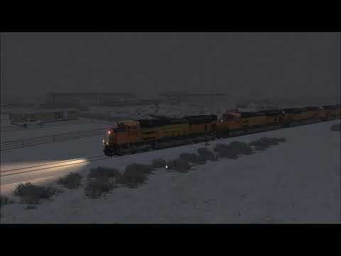 BNSF golden Swoosh with Doublestack heading to Red Eagle