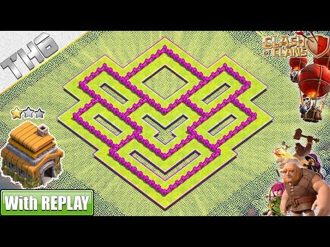 NEW BEST TH6 Hybrid Base 2019 With REPLAY | TH6 Base With COPY LINK | Clash Of Clans
