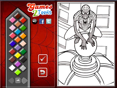 Spiderman Coloring Pages For Kids - Spiderman Coloring Pages - YouTube