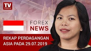 InstaForex tv news: 29.07.2019:  Trading USD stabil menjelang pertemuan FOMC (USDХ, JPY, AUD)