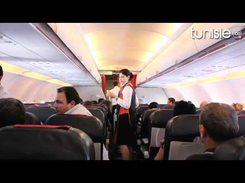 vol paris tunis bord de syphax airlines youtube. Black Bedroom Furniture Sets. Home Design Ideas