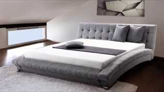 Beliani Upholstered Bed - Fabric - Super King Size - Incl. Stable Slatted Frame - Grey - Lille - Eng