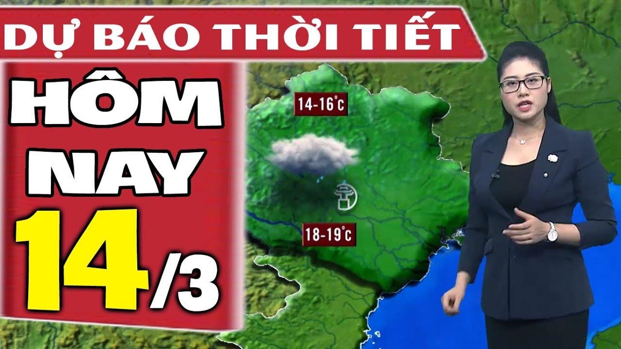 Dự báo thời tiết hôm nay mới nhất ngày 14/3 | Không Khí Lạnh | Dự báo thời tiết 3 ngày tới