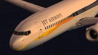 Infinite flight. Jet Airways  Full flight taking off runway 20R landing to runway 06R