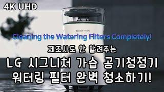LG 시그니처 가습 공기청정기 워터링 필터 완벽 청소하…