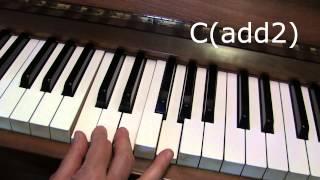 كيفية جعل الحبال المعلقة (مثل Csus4) على البيانو