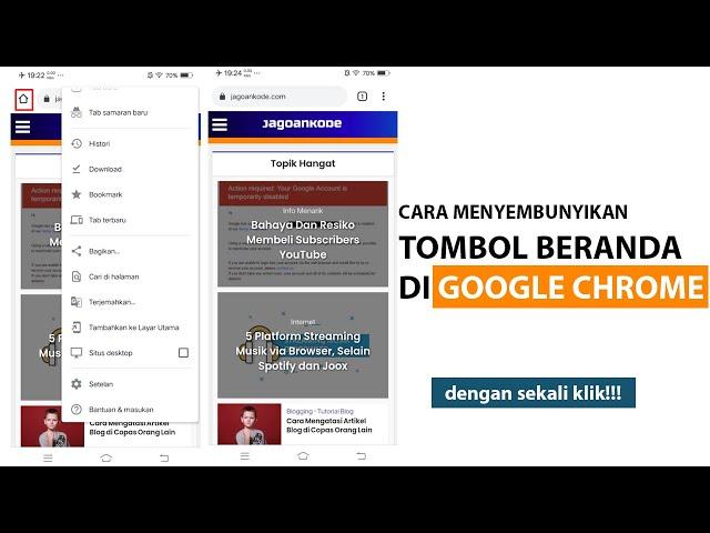 Cara Menyembunyikan Tombol Beranda di Google Chrome