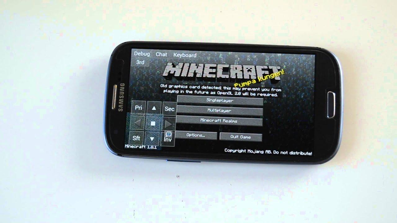 Minecraft PC Version Auf ANDROID Gerät Spielen KEIN Root YouTube - Minecraft spiele android