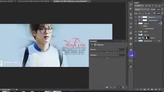 [TUT #9] Hướng dẫn design cover facebook đơn giản bằng photoshop cs6 | Jin BTS
