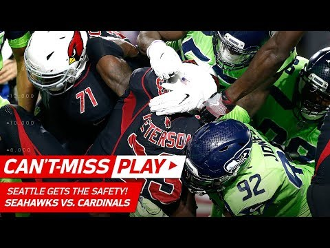 Kam Chancellor Stops Adrian Peterson in the End Zone for a Safety! | Can