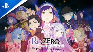 Re:ZERO -Starting Life in Another World- The Prophecy of the Throne - Character Trailer   PS4