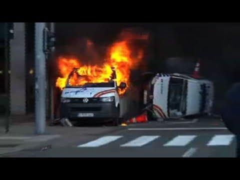 """Bruxelles: incidents lors d'une manifestation de """"gilets jaunes"""""""