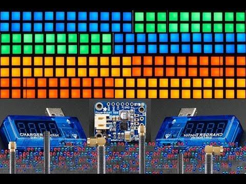 Small 1.2 8x8 Ultra Bright Square White LED Matrix Backpack
