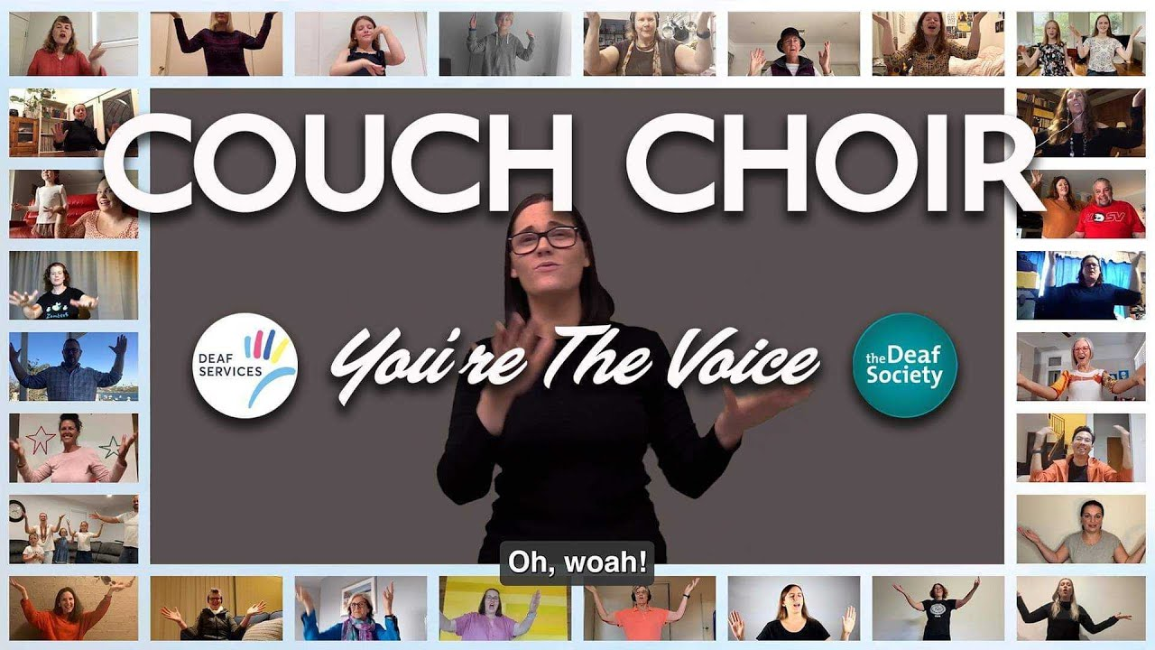 Auslan Couch Choir - You're The Voice