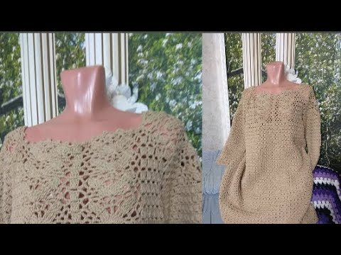 Как связать крючком платье или тунику