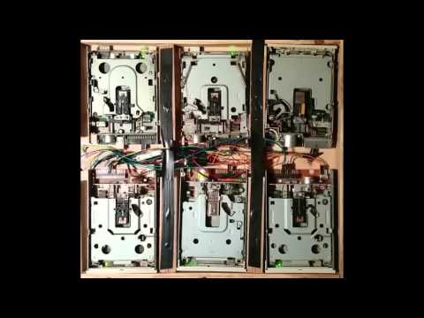 Hearthstone Theme song on 6 floppy drives