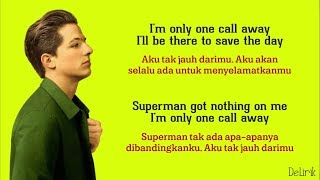 One Call Away - Charlie Puth (Lyrics video dan terjemahan)
