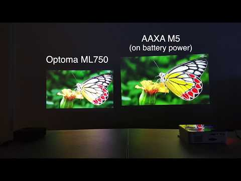 Optoma ML750 Ultra Portable Projector Review Compared with AAXA M5