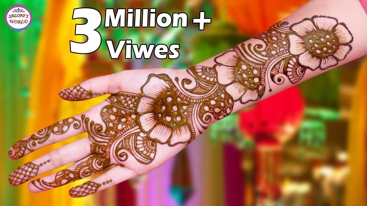 Trending Arabic Big Flower Henna Mehndi Designs 3d Mehndi Designs