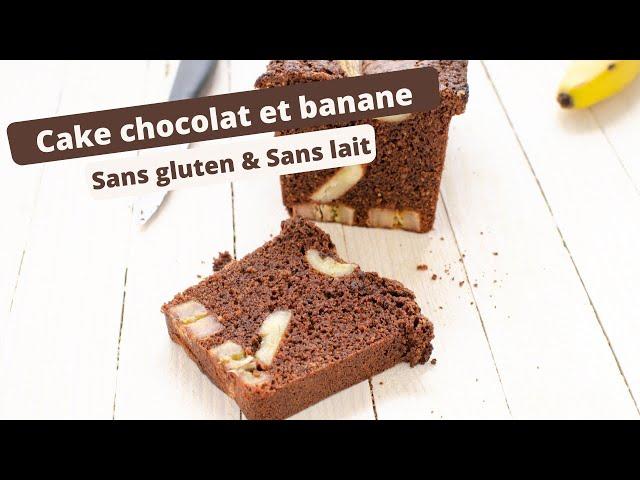 🍫 CAKE CHOCOLAT ET BANANE SANS GLUTEN 🍌