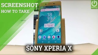 How to Take Screenshot in SONY Xperia X - Capture Screen in SONY