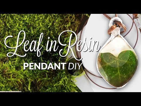 DIY Pendant Heart leaf in resin