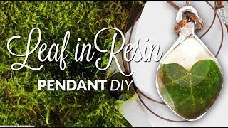 DIY Pendant Heart leaf in resin