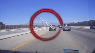 Car Runs Over Ladder on Highway