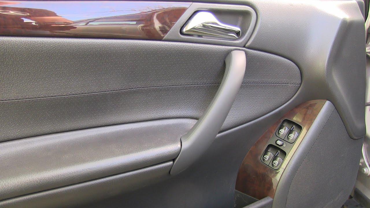 Mercedes C-Class Broken Door Handle Replacement & Mercedes C-Class Broken Door Handle Replacement - YouTube
