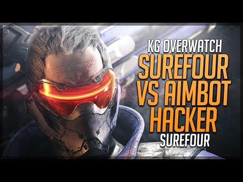 🎲 Surefour vs Aimbot Hacker - 1 Hacker vs 11 Players - Overwatch Stream Ranked Match