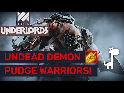 UNDEAD DEMON WARRIORS!! Dota Underlords FUN WARLOCK BUILDS!!