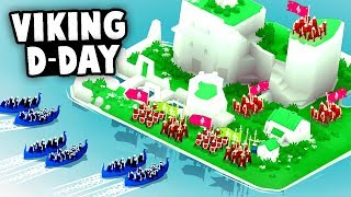 Epic VIKING D-DAY INVASIONS! Most ADDICTING Game EVER! (Bad North Gameplay)