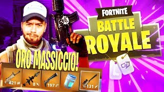 ORO MASSICCIO! TUTTO IL LOOT LEGGENDARIO !! 1vs QUAD TEAM - Fortnite Battle Royale