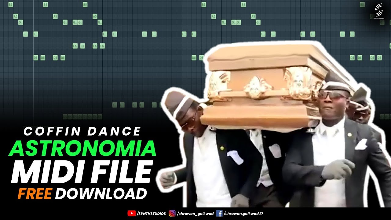 Viral Coffin Dance Meme Astronomia (Piano) Midi File Free ...