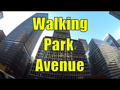 ⁴ᴷ Walking Tour of Manhattan, NYC - Park Avenue from 63rd Street to 14th Street Union Square
