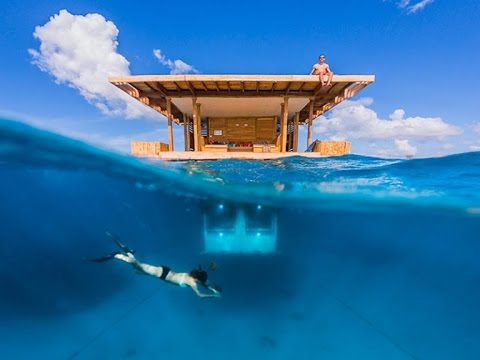 Private Undersea Room At The Manta Resort in Zanzibar