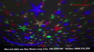 Đèn Led Chiếu Sao Star Master Xoay Tròn