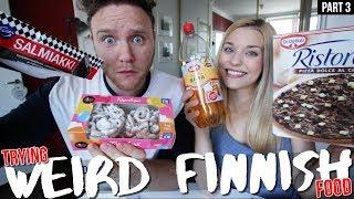 Trying WEIRD Finnish foods   Part 3
