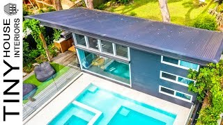 Stunning Luxury Small Home Built In Suburban Backyard | Tiny House Interiors