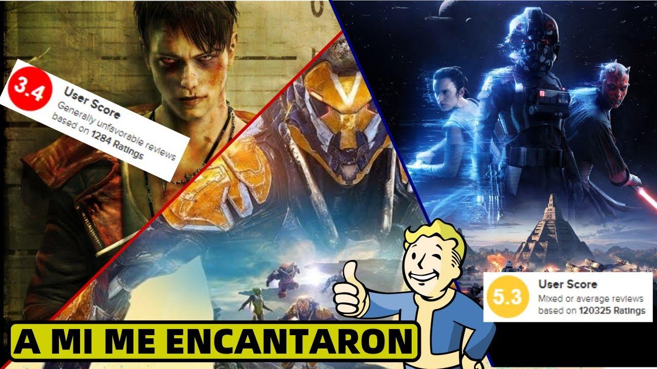 6 videojuegos ODIADOS por la critica pero AMADOS por mi
